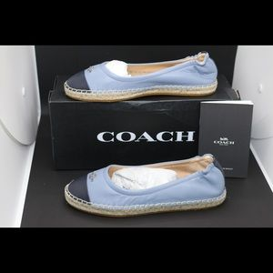 ❌SOLD❌NWB! Coach Camryn Leather Espadrille flat